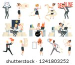 deadline characters. business... | Shutterstock .eps vector #1241803252