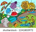 preschool education. textbook...   Shutterstock .eps vector #1241803972