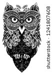 celtic owl tattoo and t shirt... | Shutterstock .eps vector #1241807608