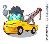 pirate cartoon tow truck... | Shutterstock .eps vector #1241808568