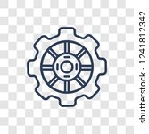 car sprocket icon. trendy... | Shutterstock .eps vector #1241812342