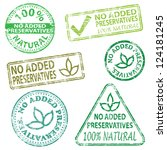 no added preservatives  rubber... | Shutterstock .eps vector #124181245