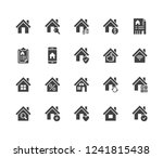 real estate flat glyph icons... | Shutterstock .eps vector #1241815438