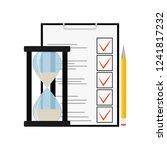 exam and test. school education ... | Shutterstock . vector #1241817232
