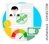 loan approved icon. financial... | Shutterstock . vector #1241817238