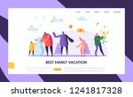 happy family characters playing ...   Shutterstock .eps vector #1241817328
