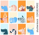 colorful cute monthly calendar... | Shutterstock .eps vector #1241819002