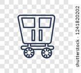 wedding carriage icon. trendy...   Shutterstock .eps vector #1241820202