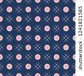 seamless pattern with buttons.... | Shutterstock .eps vector #1241821585