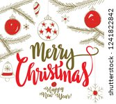 merry christmas   happy new... | Shutterstock .eps vector #1241822842