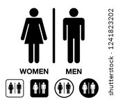 a man and a lady toilet sign.wc ... | Shutterstock .eps vector #1241823202