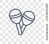 maracas icon. trendy linear... | Shutterstock .eps vector #1241824285
