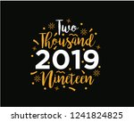 happy 2019 new year. holiday... | Shutterstock .eps vector #1241824825