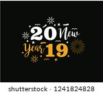 happy 2019 new year. holiday...   Shutterstock .eps vector #1241824828