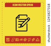note paper icon vector   Shutterstock .eps vector #1241827318