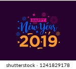 happy 2019 new year. holiday... | Shutterstock .eps vector #1241829178