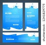 water aqua splash bottle drops... | Shutterstock .eps vector #1241829775