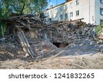 demolition or disassembly of an ... | Shutterstock . vector #1241832265