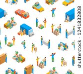 relocation service 3d seamless... | Shutterstock .eps vector #1241832808