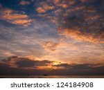 sunset at the sea | Shutterstock . vector #124184908