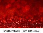 red blur bokeh light background | Shutterstock . vector #1241850862