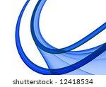 blue abstract fractal on white... | Shutterstock . vector #12418534
