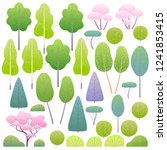 various trees and bushes set.... | Shutterstock .eps vector #1241853415