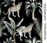 tropical vintage botanical... | Shutterstock .eps vector #1241854342