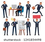 cartoon businessman. business... | Shutterstock .eps vector #1241854498