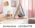 pastel pillows in front of tent ... | Shutterstock . vector #1241864758