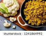cauliflower rice with spices in ... | Shutterstock . vector #1241864992