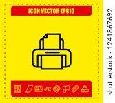 print icon vector   Shutterstock .eps vector #1241867692