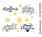 merry christmas and happy... | Shutterstock .eps vector #1241872045