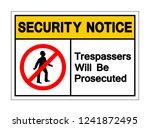 Security Notice Trespassers...
