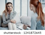 sad business woman consulting... | Shutterstock . vector #1241872645