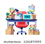 interior office room  workplace.... | Shutterstock .eps vector #1241874595