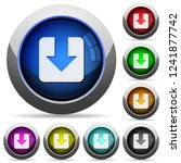 download icons in round glossy... | Shutterstock .eps vector #1241877742