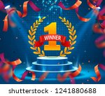 stage podium with lighting ... | Shutterstock .eps vector #1241880688