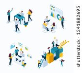 isometric set concept templates ... | Shutterstock .eps vector #1241882695