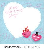 two valentine's hearts in love. ... | Shutterstock .eps vector #124188718