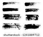 painted grunge stripes set.... | Shutterstock .eps vector #1241889712