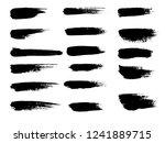 painted grunge stripes set.... | Shutterstock .eps vector #1241889715