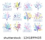 cute and elegant vector floral...   Shutterstock .eps vector #1241899435