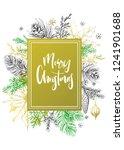 calligraphy inscription merry... | Shutterstock .eps vector #1241901688