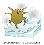 dust mite making dust on bed | Shutterstock .eps vector #1241903215