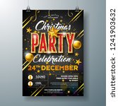 christmas party flyer... | Shutterstock .eps vector #1241903632