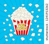 popcorn box vector illustration   Shutterstock .eps vector #1241913262