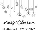 christmas cards and happy new...   Shutterstock .eps vector #1241914072