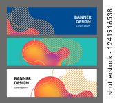 Stock vector banner background design colored modern abstract template 1241916538