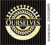 ourselves golden emblem or badge | Shutterstock .eps vector #1241918995